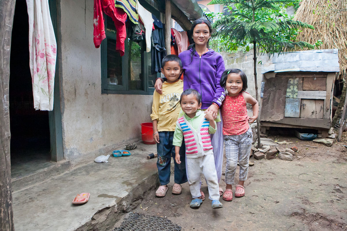 Dani's children in Nepal