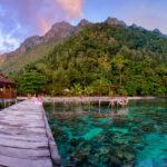 The pier at Ora Beach - Maluku - Indonesia